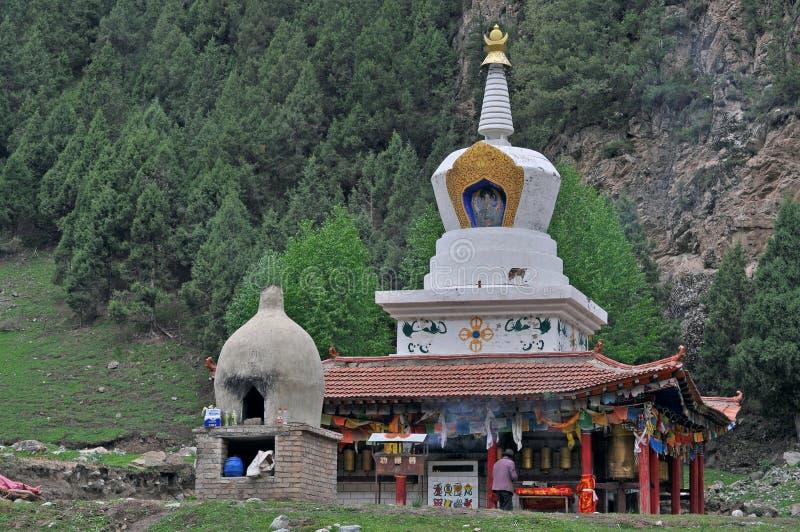 Templo asiático, cultura oriental, civilización oriental, turismo de Qinghai foto de archivo