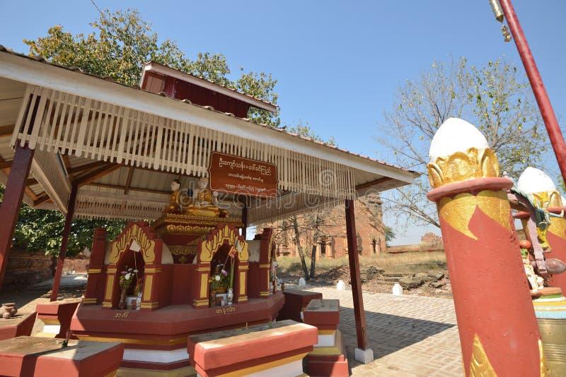 Templo Bagan Myanmar da imagem da Buda fotografia de stock royalty free
