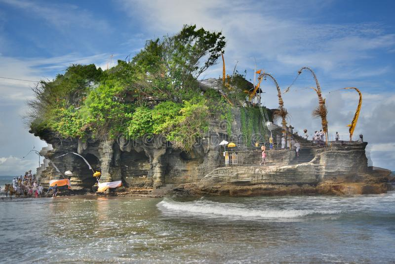 Templo Bali Pura Luhur Uluwatu de Uluwatu del faithm hindú imagen de archivo libre de regalías