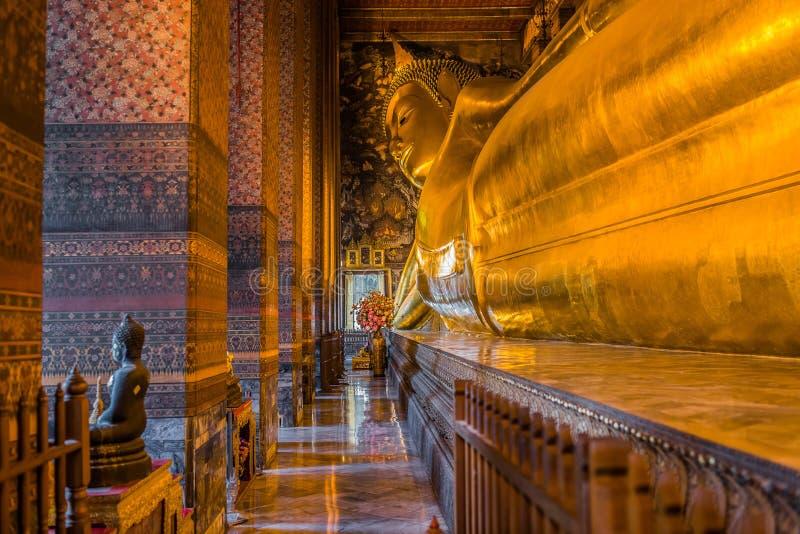 Templo Banguecoque Tailândia de Wat Pho da Buda fotografia de stock royalty free