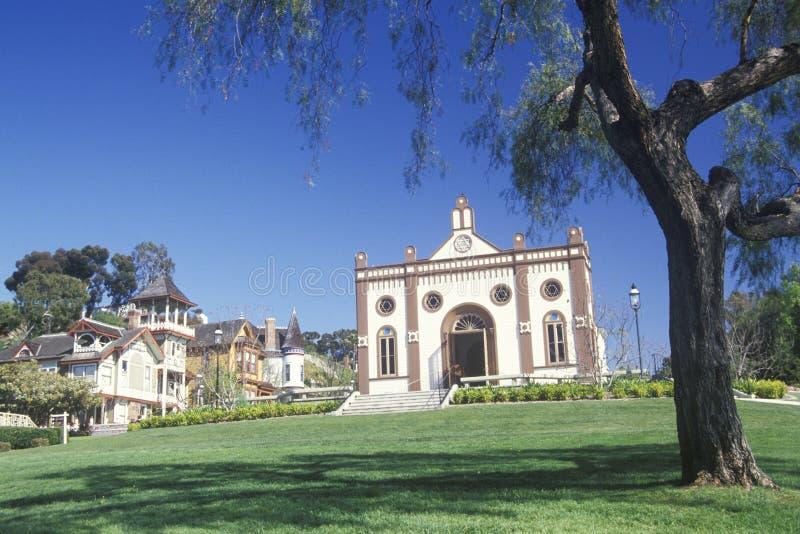 Templo Beth Israel Synagogue na cidade velha San Diego California imagem de stock royalty free