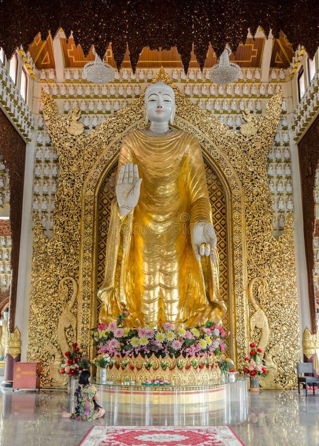 Templo birmano de Dhammikarama en Georgetown Penang, Malasia fotografía de archivo libre de regalías