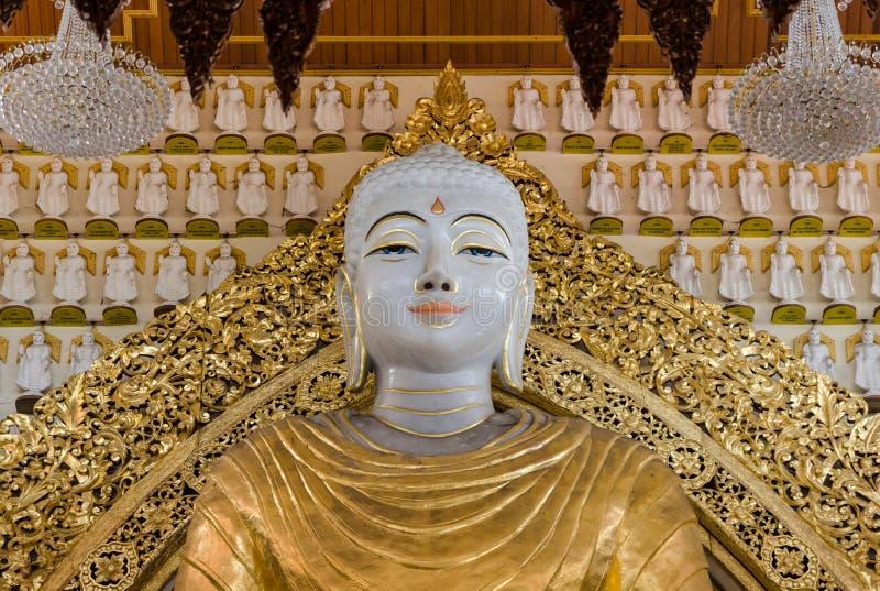 Templo birmano de Dhammikarama en Penang, Malasia imagen de archivo