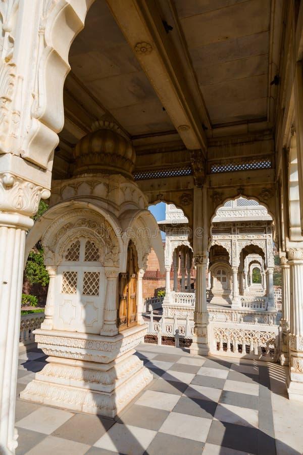 Templo blanco - Jaswant Thada en Jodhpur imagen de archivo