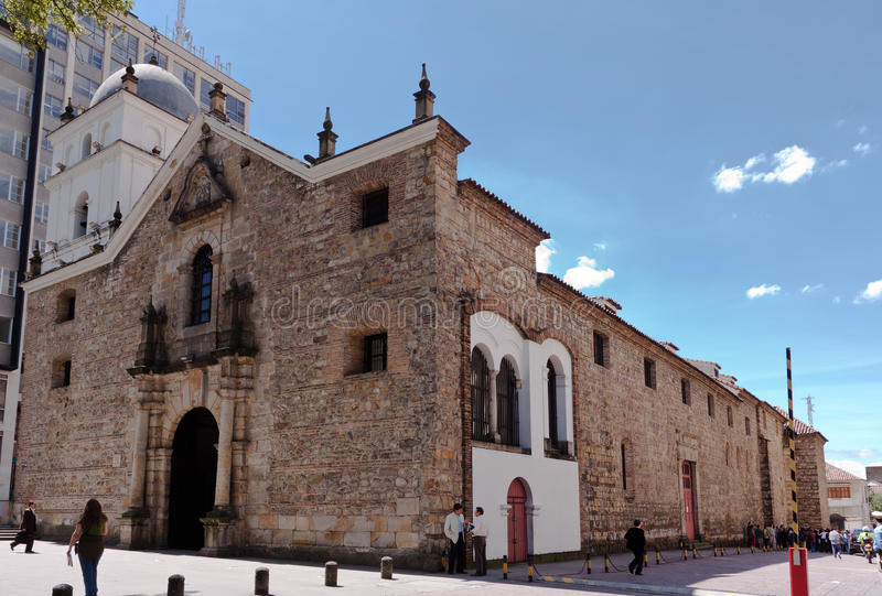 Templo Bogotá Colômbia de San Agustin imagem de stock