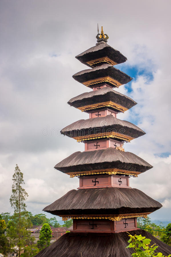 Templo Bali de Pura Besakih, Indonésia foto de stock royalty free
