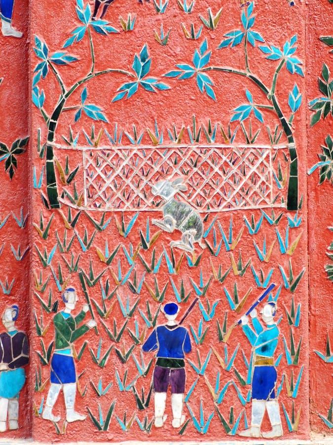 Templo bonito de XIENGTHONG na província de LUANG PRABANG de LAOS imagens de stock royalty free