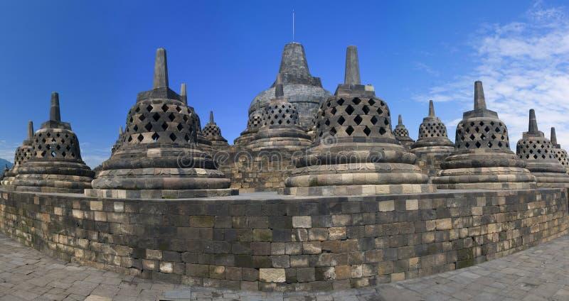 Templo Borobudur de Buddist. Yogyakarta. Indonésia fotografia de stock