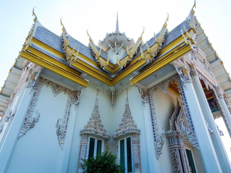 Templo branco bonito de Bhuddhist imagem de stock