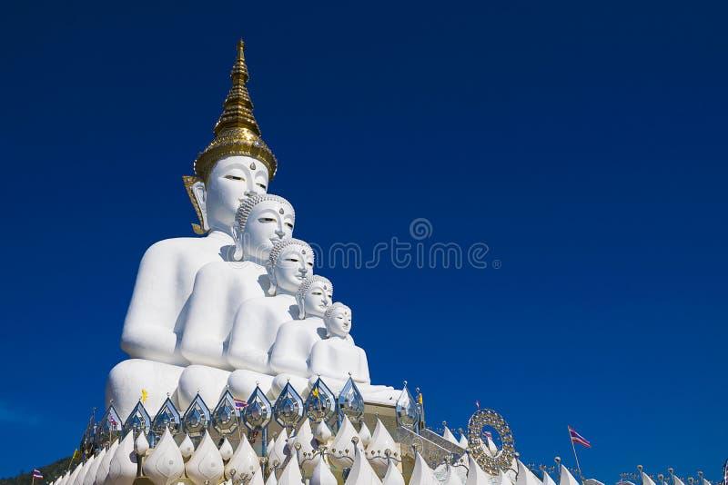 Templo branco grande da religião da estátua da Buda foto de stock royalty free