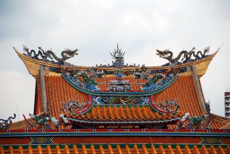 Templo brillante de la colina en Singapur fotos de archivo libres de regalías