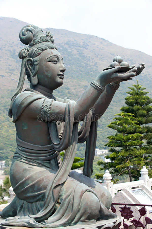 Templo Buddha de Tian Tan em Hong Kong fotografia de stock