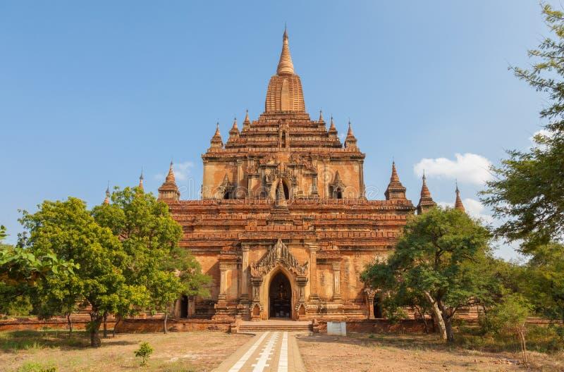 Templo budista antigo de Sulamani em Myanmar imagem de stock royalty free