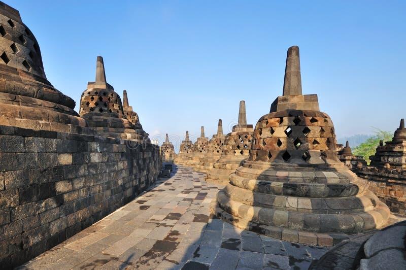 Templo budista antiguo de Borobudur, Java Oriental, Indonesia imagenes de archivo