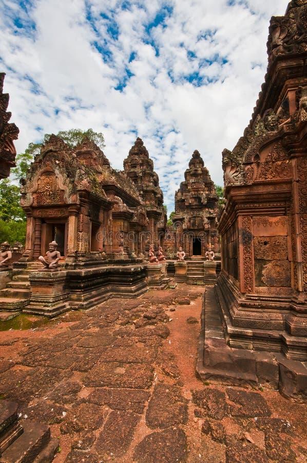 Templo budista antiguo del khmer foto de archivo