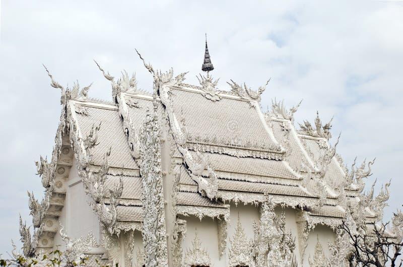 Templo budista branco fotografia de stock