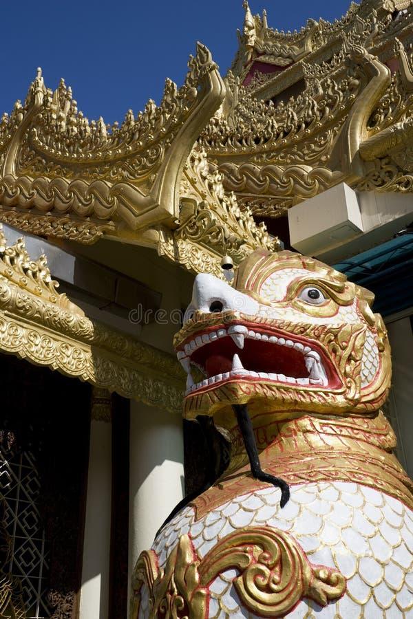 Templo budista Burmese de Dhammikarama fotos de archivo libres de regalías