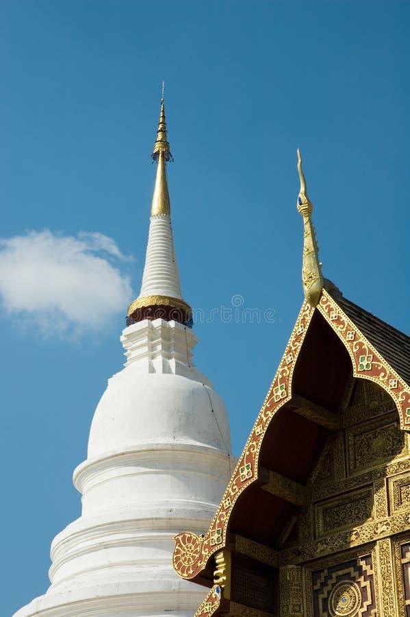 Templo budista, Chiang Mai, Tailândia imagem de stock