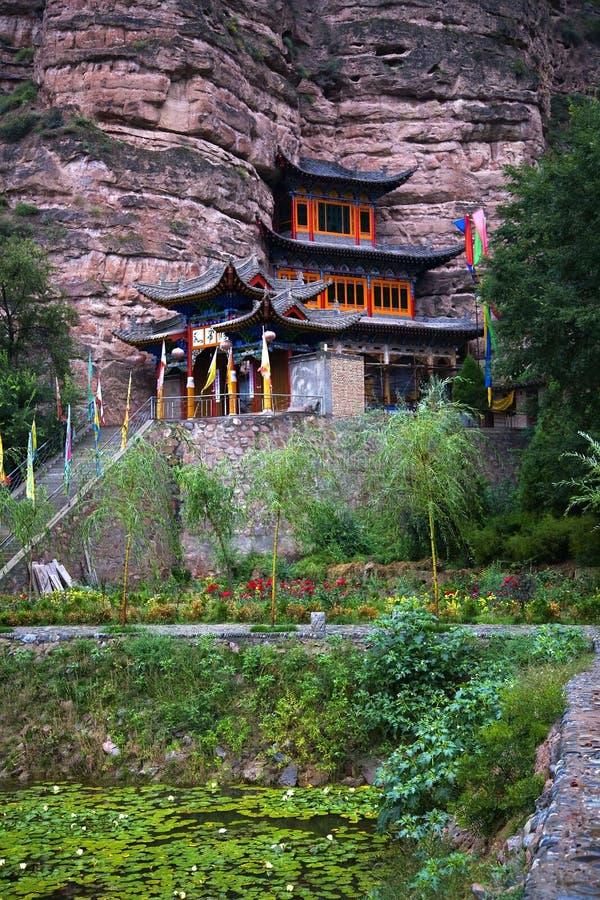 Templo budista China de Binglin Si foto de stock
