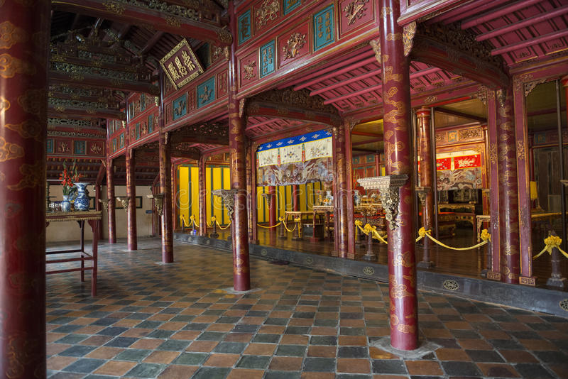 Templo budista chino viejo Tonalidad, Vietnam foto de archivo