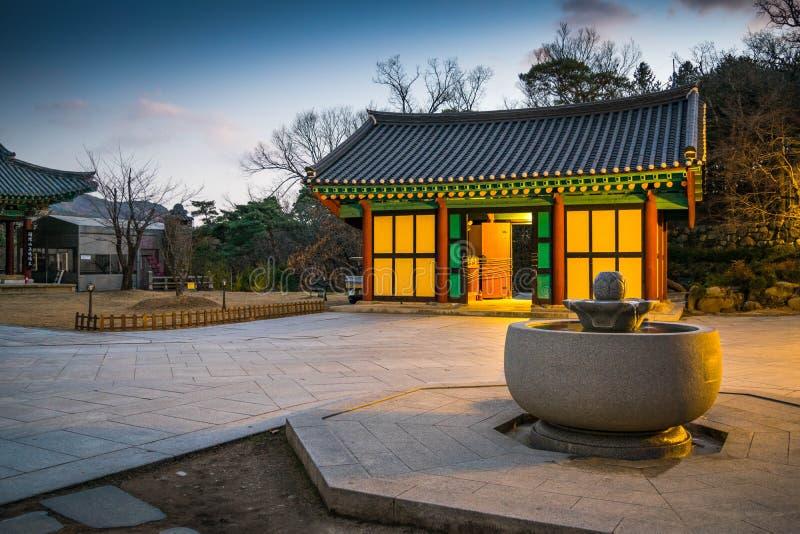 Templo budista coreano imagen de archivo libre de regalías