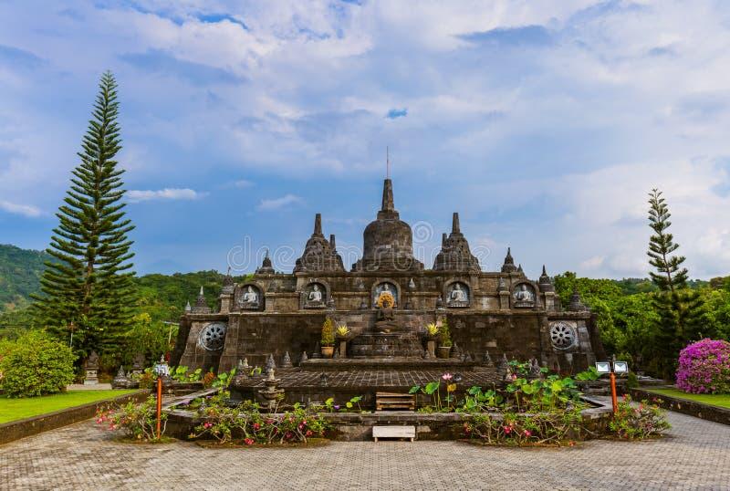 Templo budista de Banjar - ilha Bali Indonésia imagens de stock royalty free
