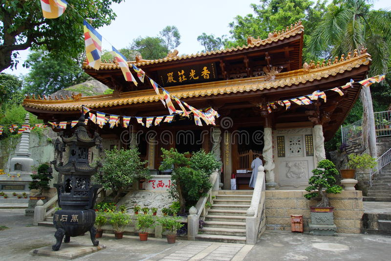 Templo budista de Nanputuo em Xiamen, China fotografia de stock
