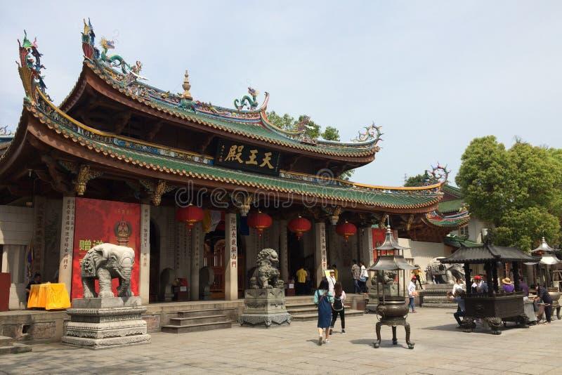Templo budista de Nanputuo en la ciudad de Xiamen, China suroriental foto de archivo libre de regalías