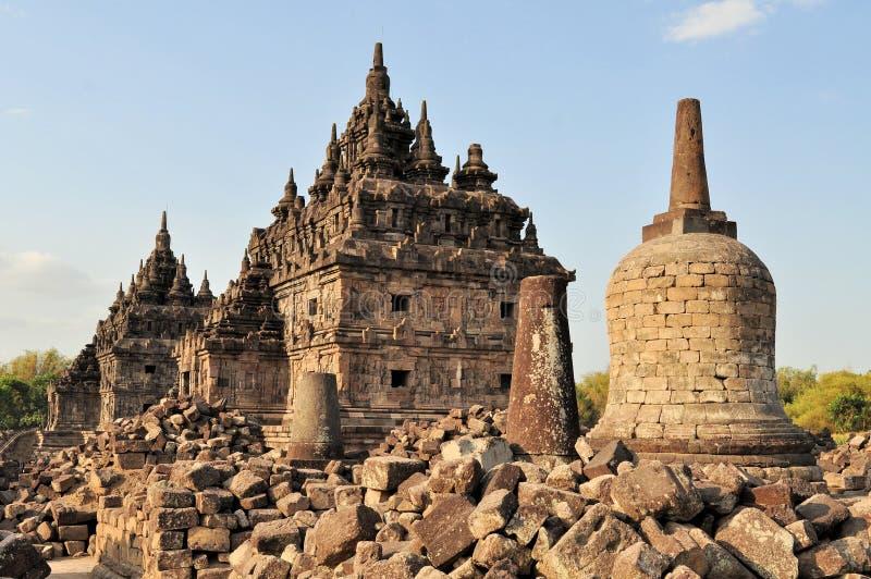 Templo budista de Plaosan en Yogyakarta, Indonesia foto de archivo libre de regalías