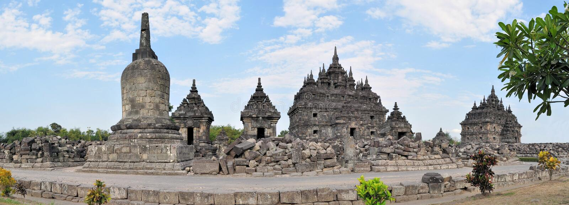 Templo budista de Plaosan en Yogyakarta, Indonesia imagen de archivo