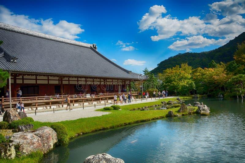 Templo budista de Tenryu, Kyoto, Japón fotografía de archivo