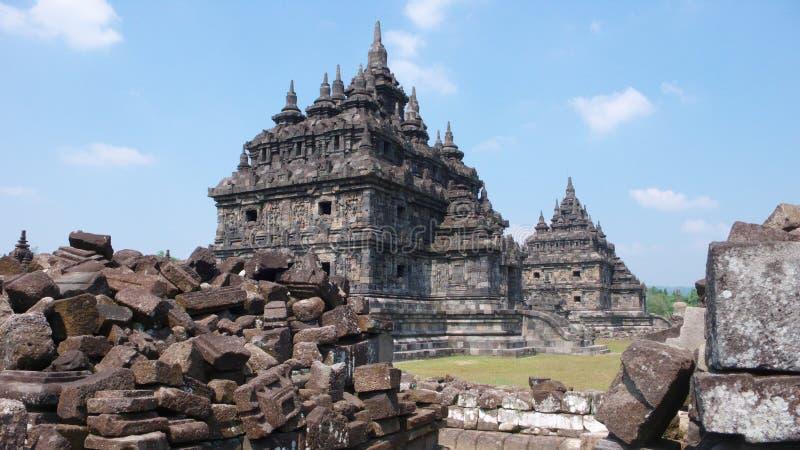 Templo budista del lor plaosan del candi imagen de archivo libre de regalías