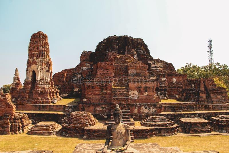 Templo budista em Ayutthaya, Banguecoque Tailândia imagem de stock royalty free