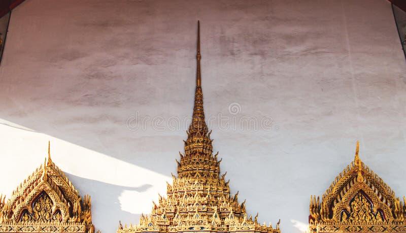 Templo budista em Banguecoque, Tail?ndia fotos de stock