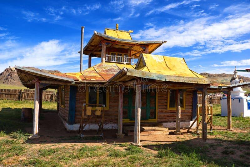 Templo budista em Mongolia. imagem de stock