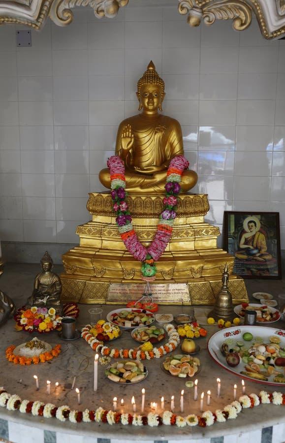 Templo budista en Howrah, la India imagen de archivo libre de regalías