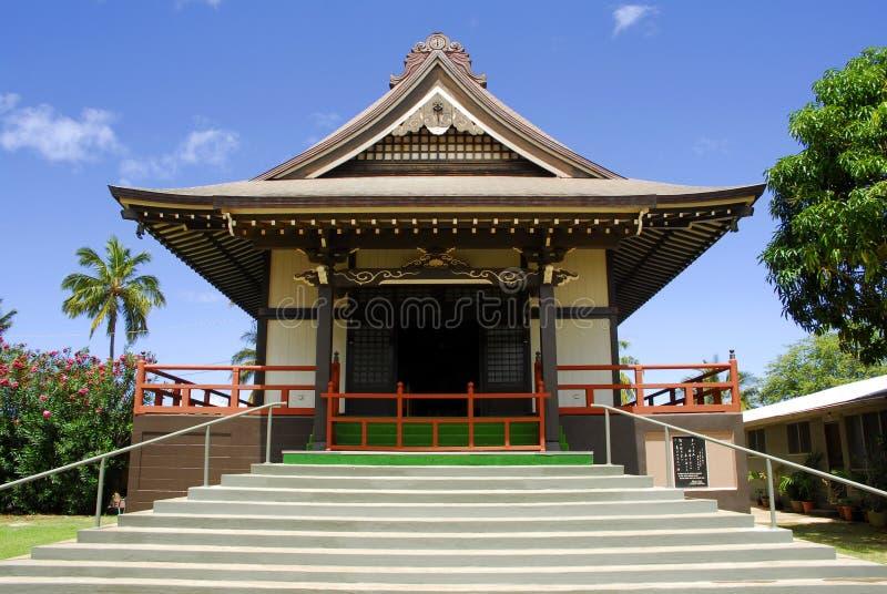 Templo budista en maui Hawai foto de archivo libre de regalías