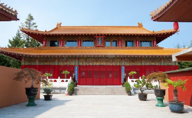 Templo budista en Vancouver, Canadá foto de archivo libre de regalías