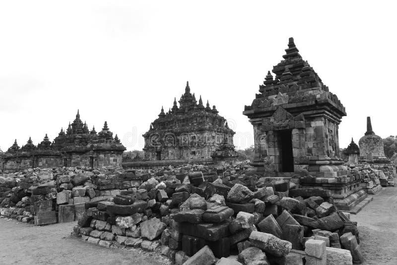 Templo budista histórico de Candi Plaosan foto de archivo libre de regalías