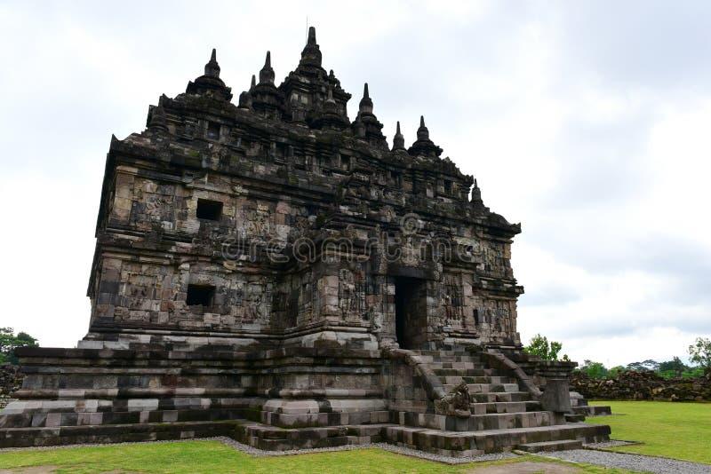 Templo budista histórico de Candi Plaosan fotos de archivo libres de regalías