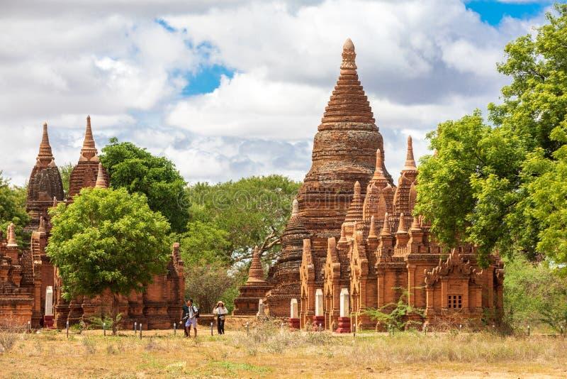 Templo budista pagoda em Bagan, Myanmar Zona arqueológica imagem de stock