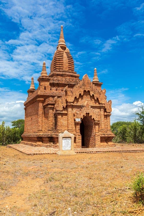 Templo budista pagoda em Bagan, Myanmar Zona arqueológica fotos de stock royalty free