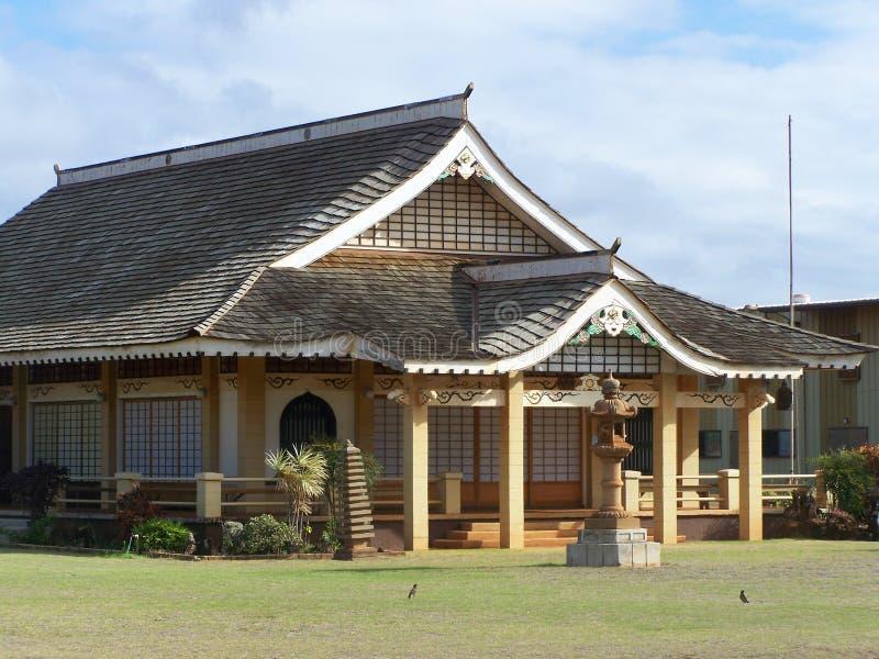 Templo budista, southshore, Kauai imagem de stock royalty free