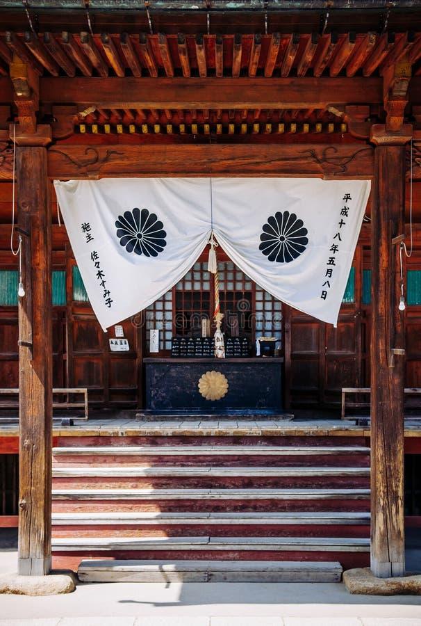 Templo budista viejo de Hida Kokubunji en el distrito viejo de Edo de Takaya fotos de archivo libres de regalías