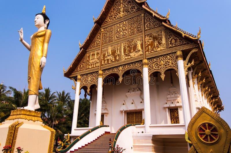 Templo budista Wat That Luang Neua en Vientián, Laos fotos de archivo libres de regalías