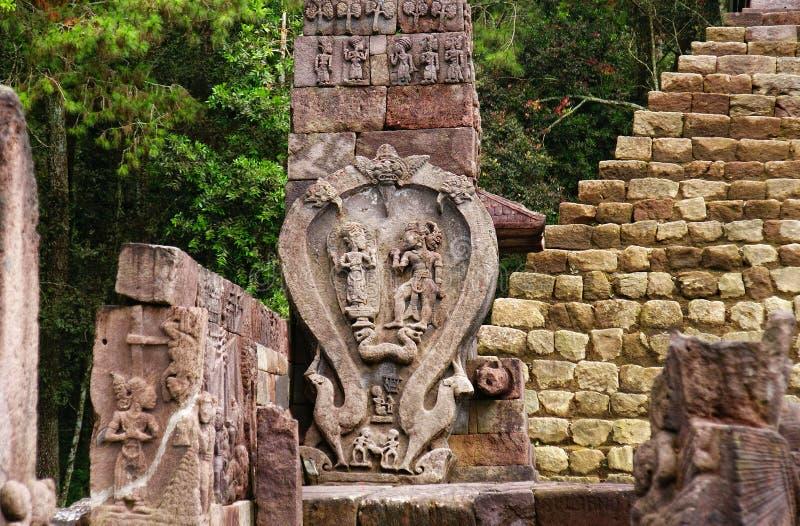 Templo/Candi Sukuh de Sukuh fotografía de archivo libre de regalías
