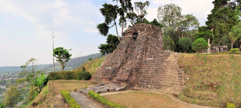 Templo cerca de Solokarta, Java de Candi Sukuh Hindu fotografía de archivo libre de regalías