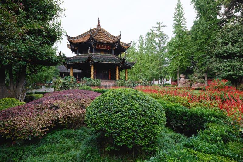 Templo Chengdu Sichuan China del gongo de Qingyang foto de archivo libre de regalías