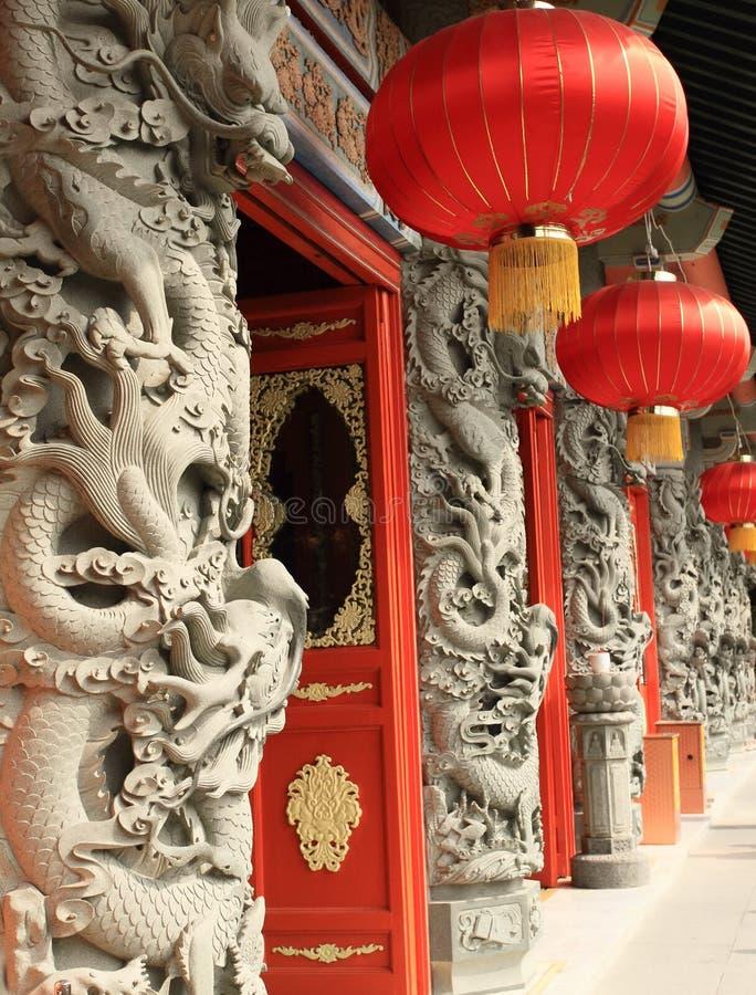 Templo chinês de Lantau imagens de stock