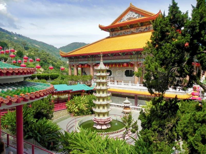 Templo chinês Kek Lok Si fotografia de stock
